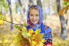 Young beautiful blonde woman Stock Photos