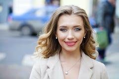 Young beautiful blonde woman Stock Photos
