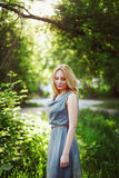 Young beautiful blonde woman portrait Royalty Free Stock Photography