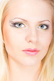 Young beautiful blonde woman with stylish make-up Stock Photography