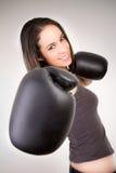 Young beautiful boxer woman Royalty Free Stock Photos