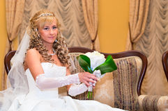 Young beautiful bride royalty free stock photography