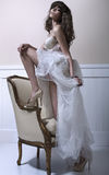 Young beautiful bride with high-heel schoes Royalty Free Stock Photos