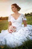 Young beautiful bride in nature. Stock Image