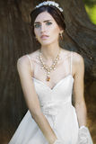 Young beautiful bride outdoors Royalty Free Stock Images