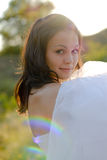 Young beautiful bride portrait Royalty Free Stock Photography