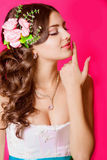 Young beautiful bride in a white dress Stock Photography