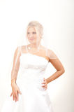 Young beautiful bride in white wedding dress Stock Photography