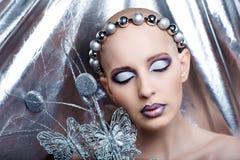 Alien art make up Royalty Free Stock Image