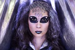 Girl extraterrestrial alien Royalty Free Stock Image