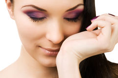 Young beautiful brunette Stock Photography