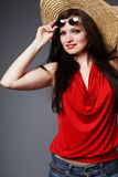 Young beautiful brunette. Stock Photo