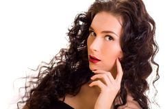 Young beautiful brunette woman Royalty Free Stock Image