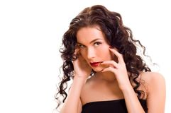 Young beautiful brunette woman Stock Image