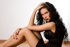 Young beautiful brunette woman Royalty Free Stock Images