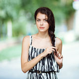 Young beautiful brunette woman royalty free stock photos