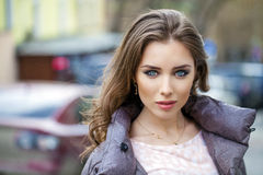 Young beautiful brunette woman Stock Photography