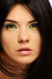 Young beautiful brunette woman Stock Images