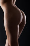 Young beautiful bum with backlighting isolated Royalty Free Stock Photos