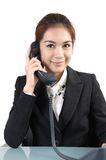 Young beautiful business lady Royalty Free Stock Images