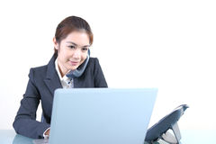 Young beautiful business lady Stock Image