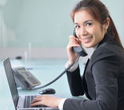 Young beautiful business lady Stock Images