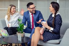 Business people working in conference room stock photos