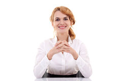 Young beautiful business woman Stock Photos