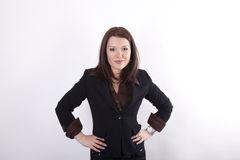 Young beautiful business woman. With an attitude Stock Image