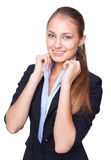 Young beautiful business woman Stock Photography