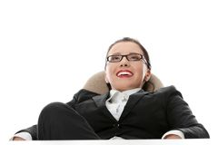 Young beautiful business woman having a rest Royalty Free Stock Photos