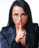 Young beautiful business woman in jacket Stock Image