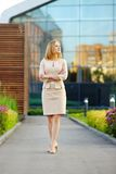 Young beautiful business woman Stock Images