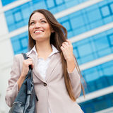 Young beautiful business woman portrait Royalty Free Stock Photos