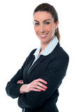 Young beautiful business woman posing Royalty Free Stock Photos