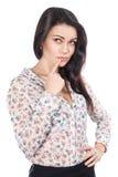 Young beautiful business woman thinking Stock Photo