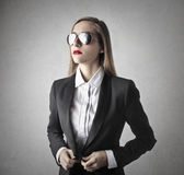 Young beautiful business woman Stock Image
