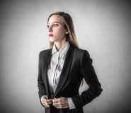 Young beautiful business woman Royalty Free Stock Images