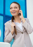 Young beautiful business woman at work Royalty Free Stock Photography