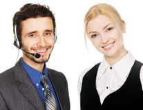 Young beautiful businesspeople Royalty Free Stock Photos