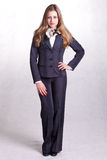 Young beautiful businesswoman stock image
