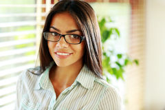 Young beautiful businesswoman in glasses Royalty Free Stock Images