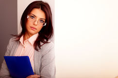 Young beautiful businesswoman Stock Photography