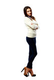 Young beautiful businesswoman standing Stock Images