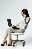 Young beautiful businesswoman using laptop Royalty Free Stock Photo