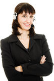 Young beautiful call center female operator Stock Image