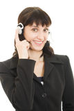Young beautiful call center female operator Stock Photography