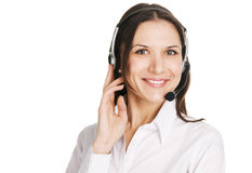 Young beautiful call center operator Royalty Free Stock Photography