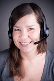 Young and beautiful callcenter agent Stock Image