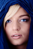 Young beautiful caucasian blond woman royalty free stock photography